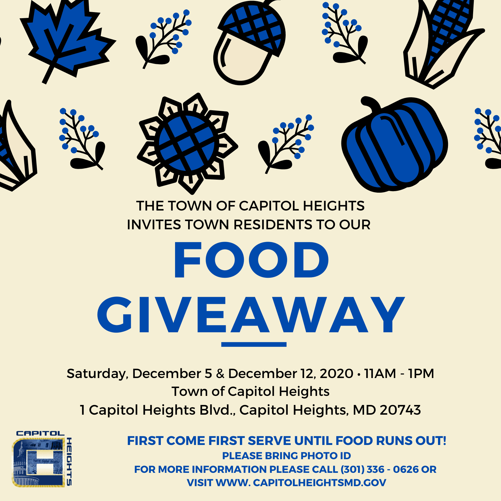 Town Food Giveaway Flyer (2)